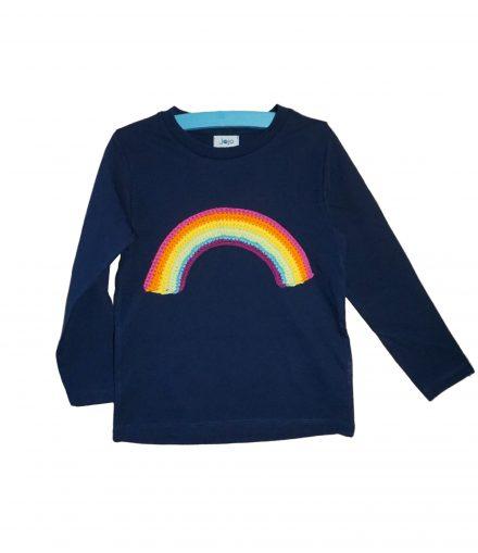 Langarmshirt regenbogen blau