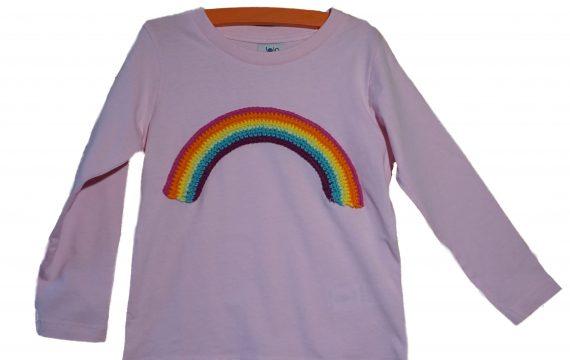 Langarmshirt regenbogen rosa
