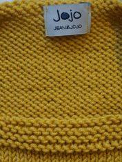 Pullunder gelb Katze detail1