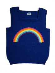 Pullunder regenbogen blau